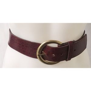 Burgundy /Gold Belt M/L